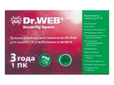 Антивирус  Dr.Web Anti-virus  1 пк / 3 года