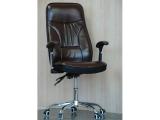 Кресло крутящиеся с короткими ручками (цвет коричневый)