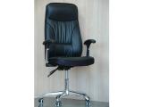 Кресло крутящиеся с короткими ручками (цвет черный)
