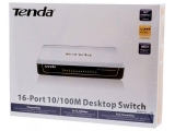 Настольный сетевой коммутатор Switch Tenda S16
